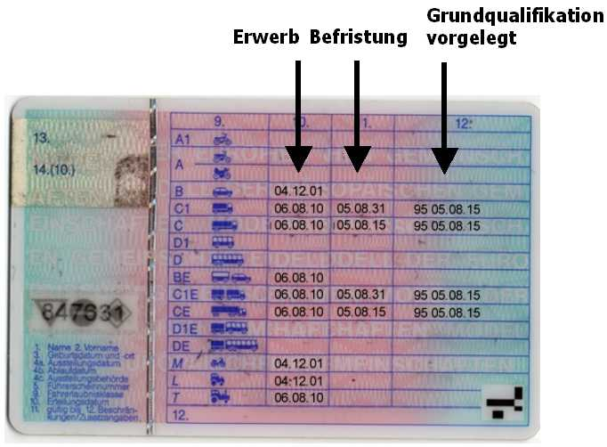 Befristung Führerschein